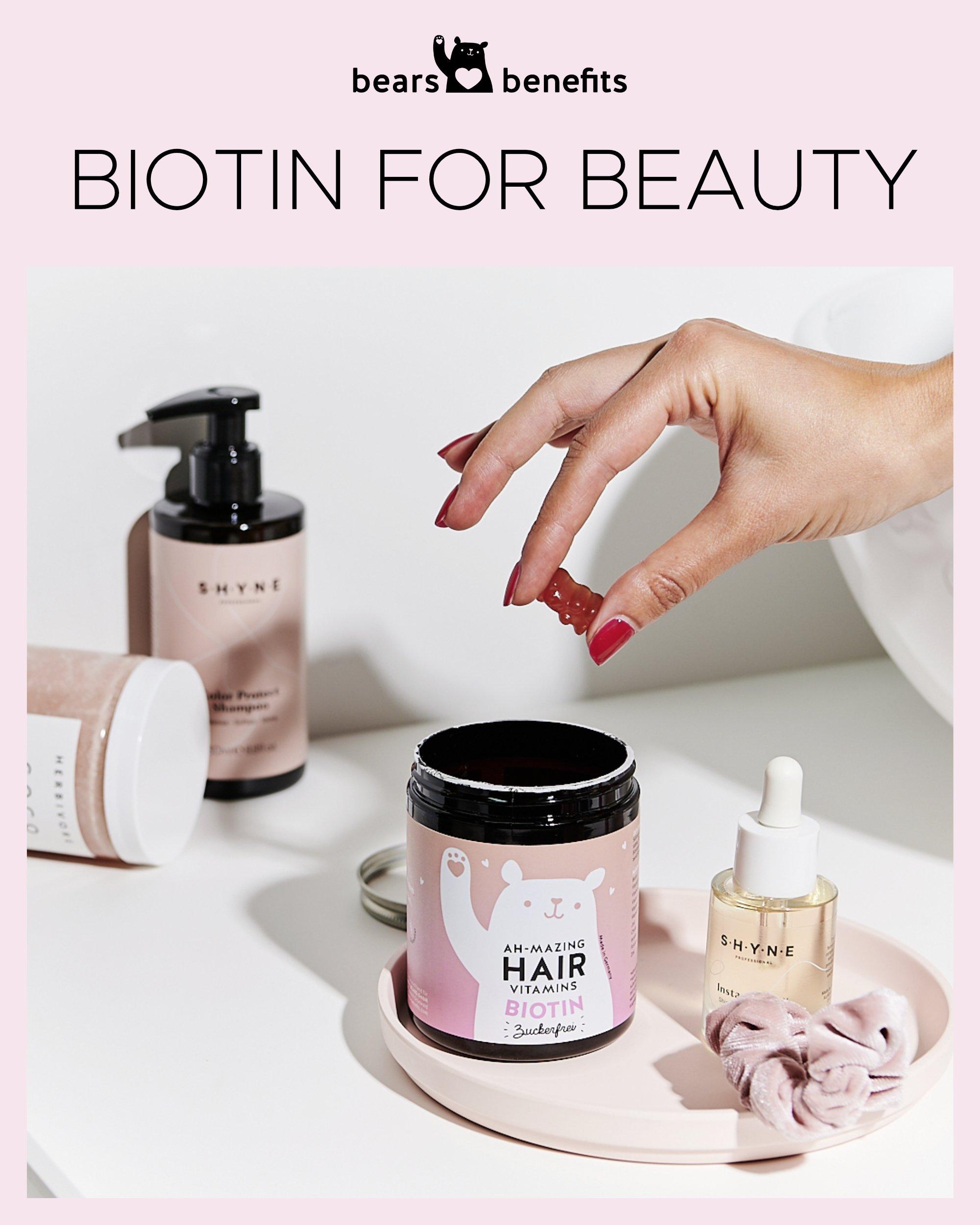 Biotin-Gummibärchen für die Haare