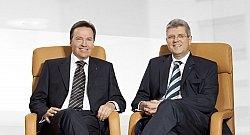 Finanzkaufmann Wolfgang Dippold (links) und Architekt Jürgen Seeberger: Gründer der PROJECT Gruppe